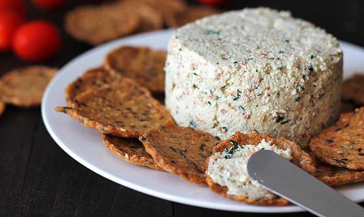 Garlic Herb Vegan Almond Cheese Spread