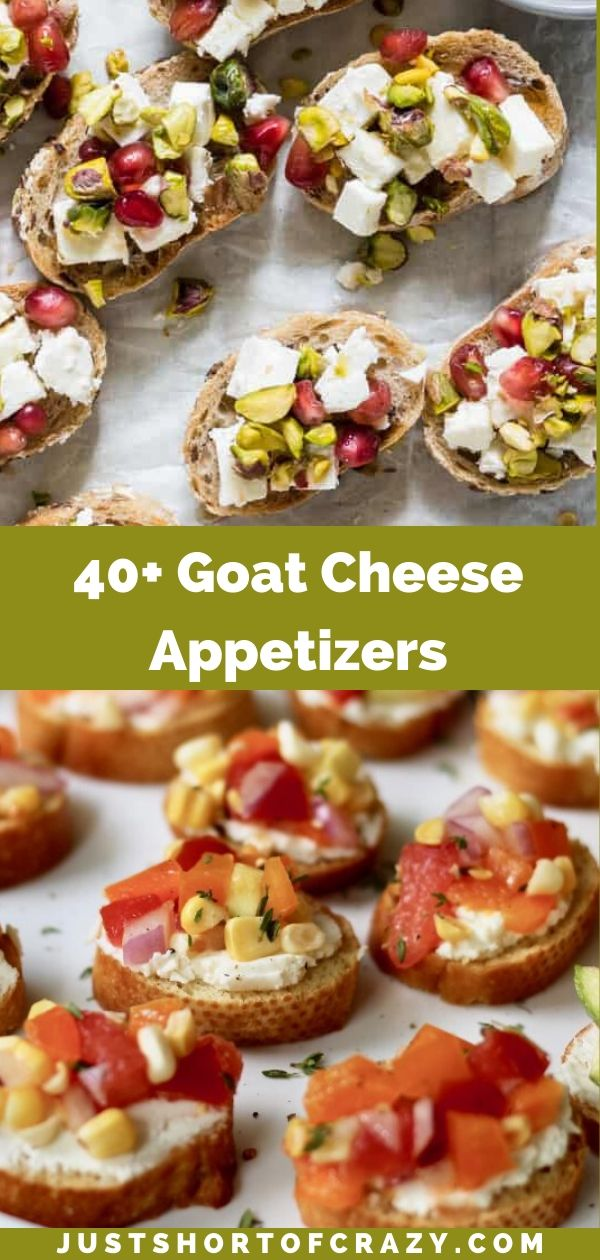 goat cheese appetizers pin