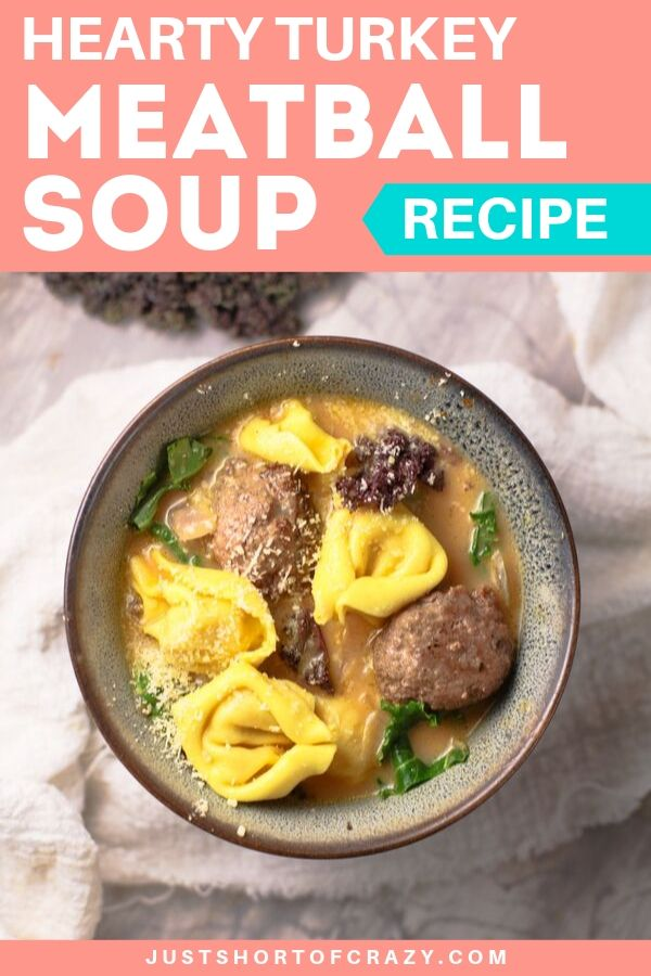 hearty turkey meatball soup