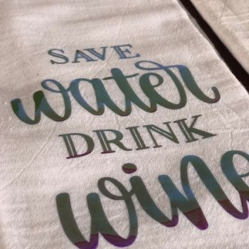 tea towels wine sets