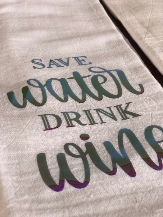 tea towels wine sets