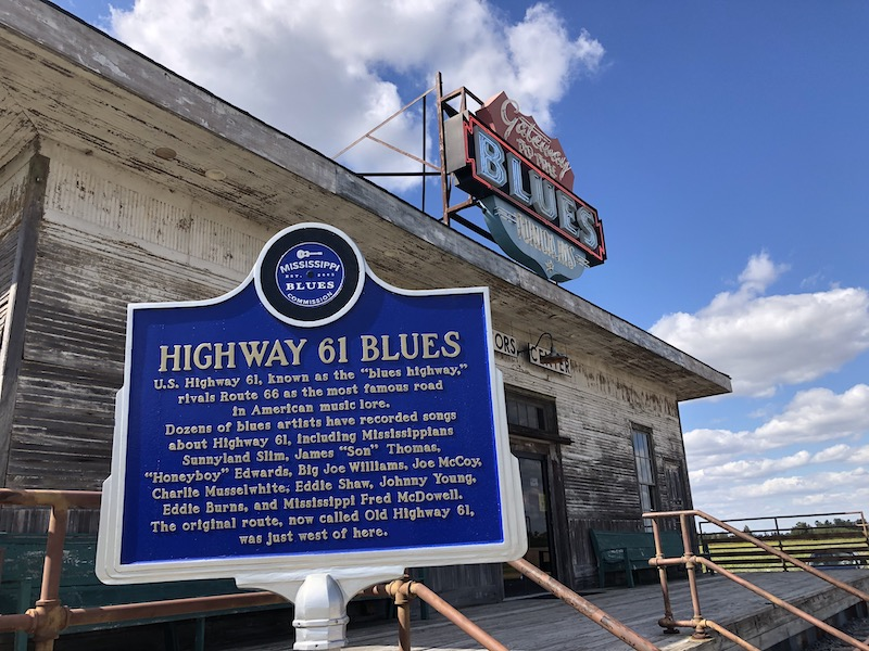 hwy 61 blues sign