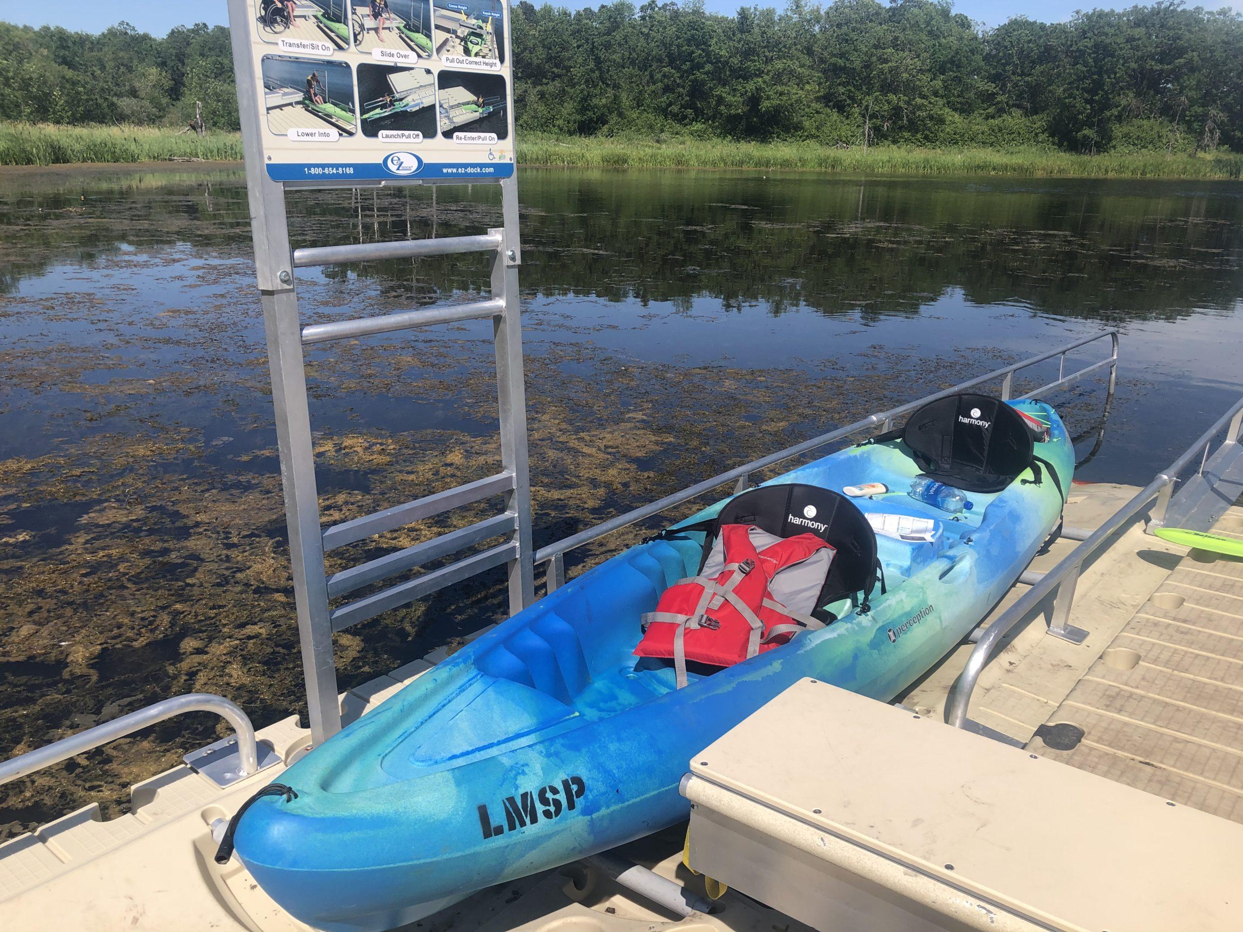 kayak launch at lake metigoshe