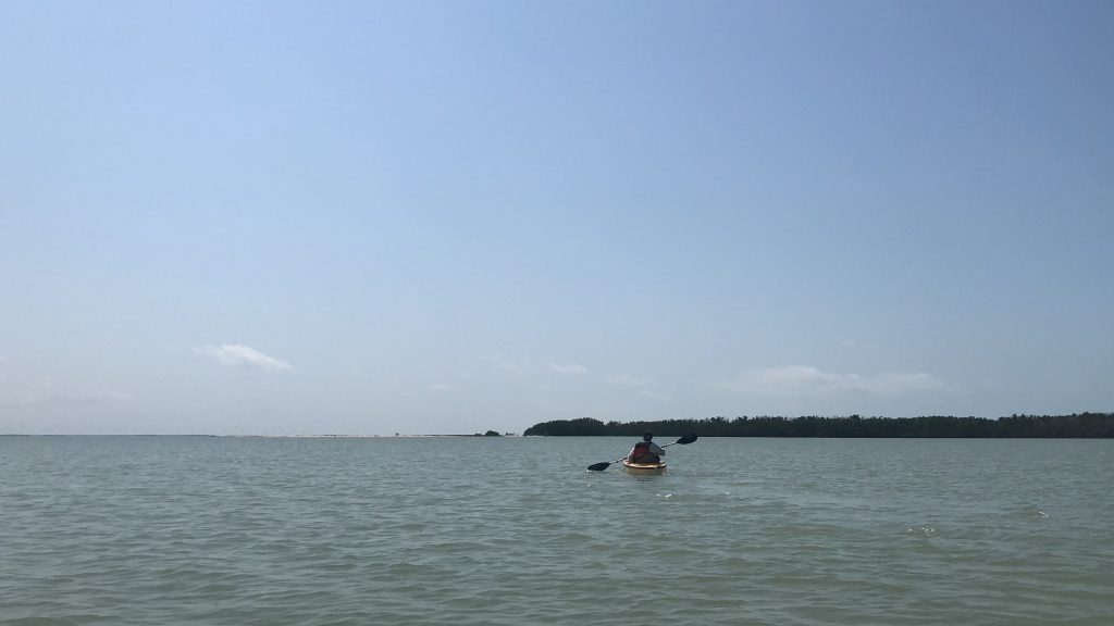 kayaking everglades national park across open water