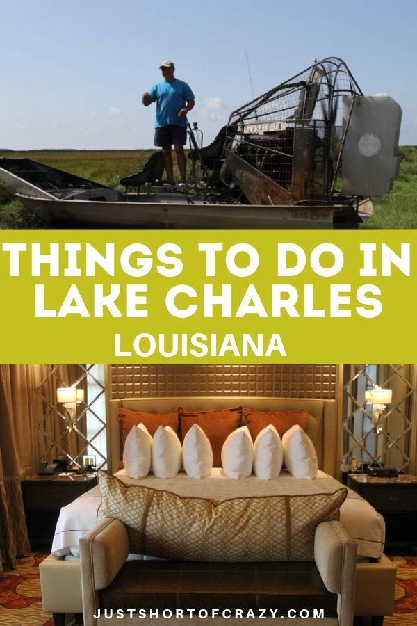 title image for things to do in lake charles la