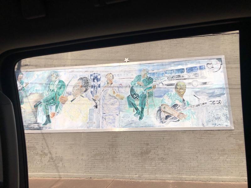 BB King Mural in Leland MS