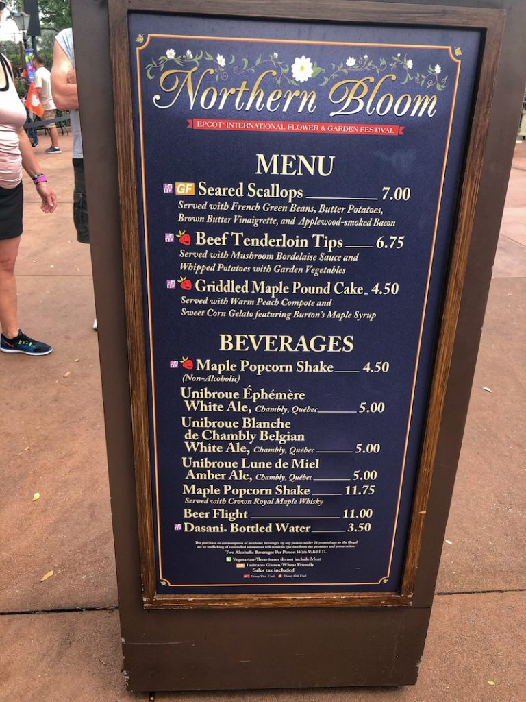 northern bloom outdoor kitchen menu