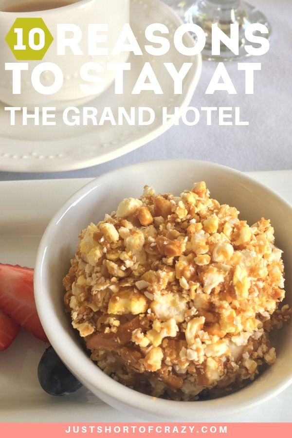title image for reasons to stay at the grand hotel includes indulging in a pecan ball
