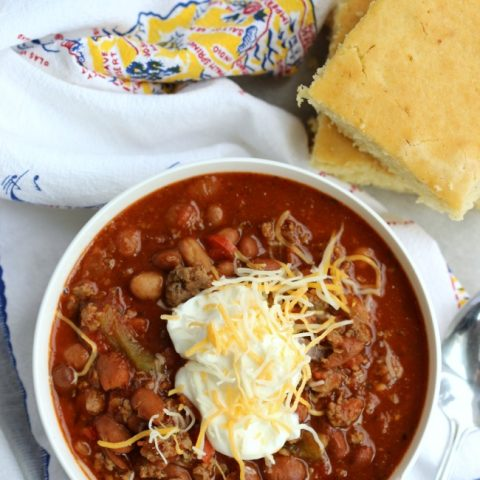 slow cooker turkey sausage chili