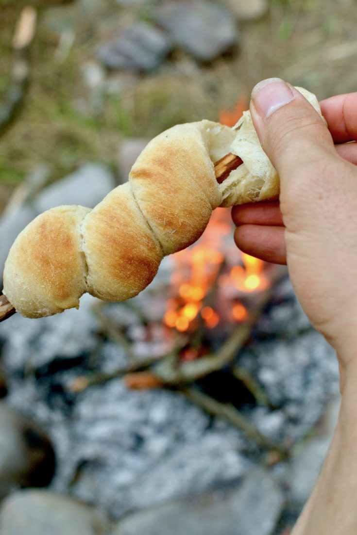 Campfire Bread on a Stick Recipe