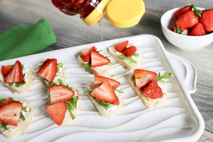 Simple Strawberry Goat Cheese Crostini -