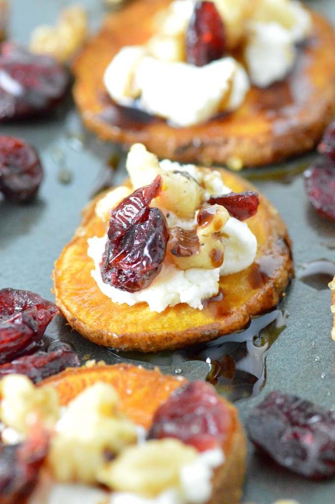 Sweet Potato Rounds with Goat Cheese Recipe