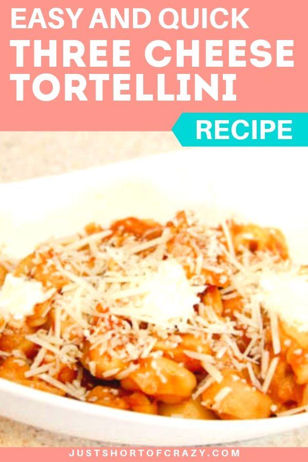 three cheese tortellini