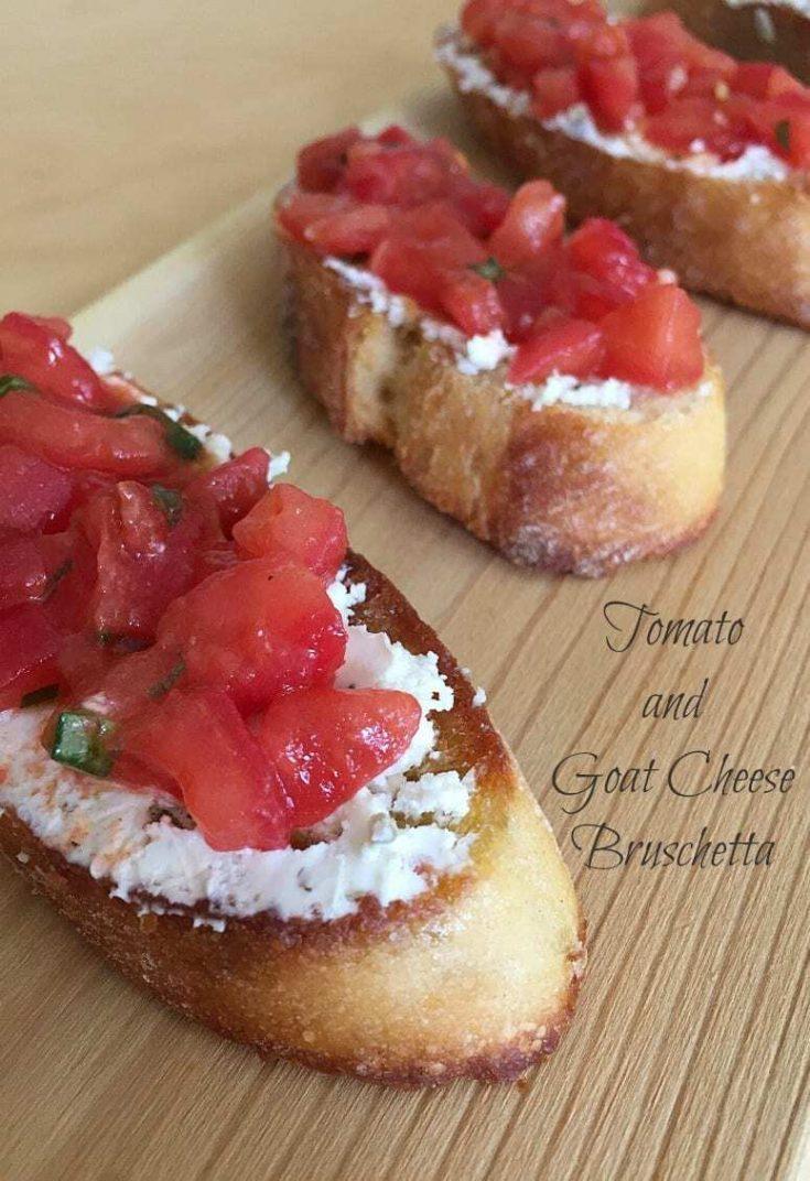 Tomato and Goat Cheese Bruschetta