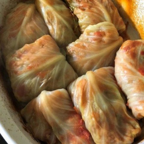 turkey rice stuffed cabbage rolls