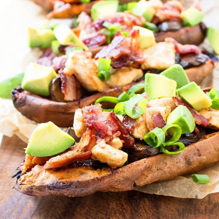 Baked Loaded Sweet Potato Skins Recipe