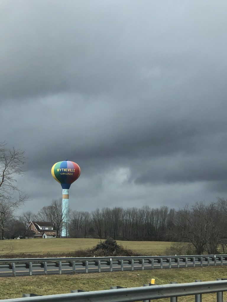 hot air balloon water town wytheville